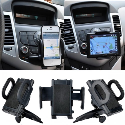 Suport mobil in slot CD pentru telefon, GPS, MP3, MP4, car CD slot Mount holder