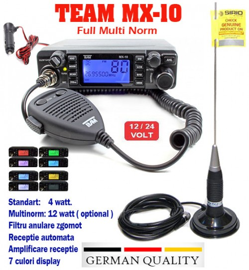 Statie Radio MX-10 Team Germany plus Antena scurta