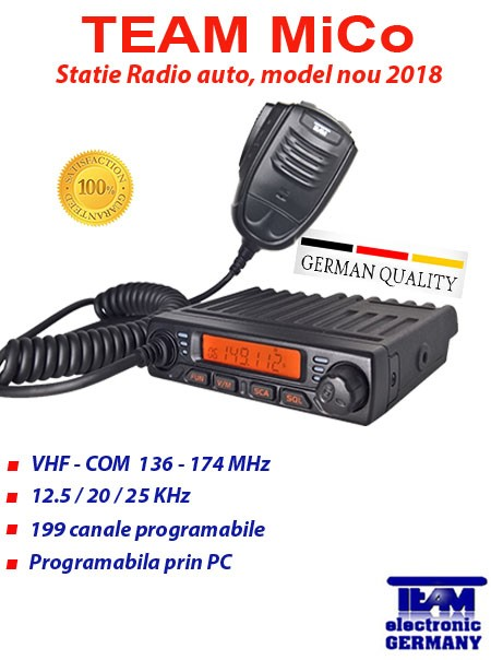 Statie Radio TAXI VHF Statie radio TAXI TEAM MiCo
